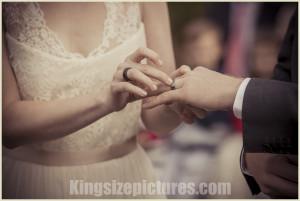 Hochzeitsfoto mit Ring