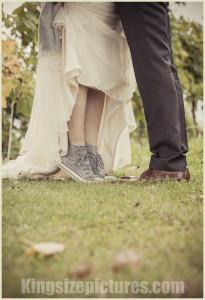 Hochzeitsfoto auf Zehenspitzen